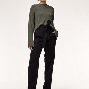 Wilfred Tie Front Pant (6, Black, Aritzia)